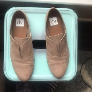 Taupe suede Oxfords